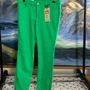 NWT lei Ashley lowrise green jeans size 9